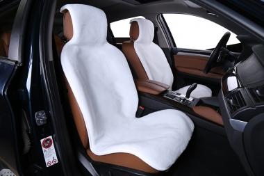Накидки из шерсти на сиденья автомобиля Накидки из искусственной шерсти на сиденья автомобиля короткий ворс (Комплект)